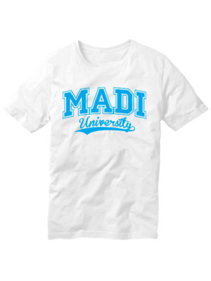 Футболка MADI university белая