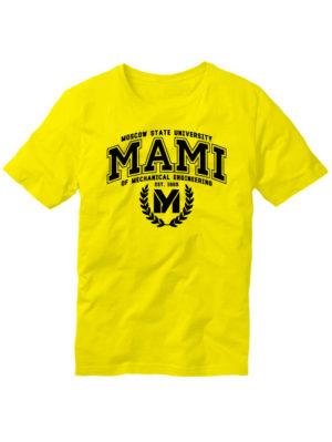 Футболка MAMI University желтая
