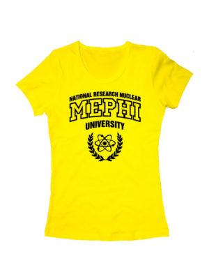 Футболка MEPHI женская желтая
