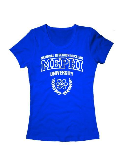 Футболка MEPHI женская синяя