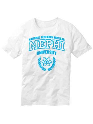 Футболка MEPHI мужская белая
