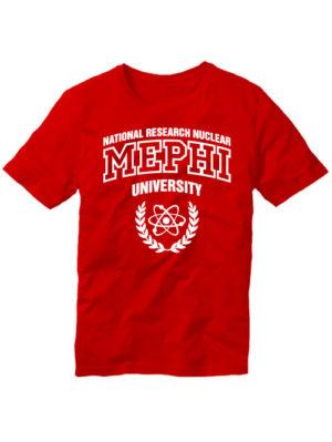 Футболка MEPHI мужская красная