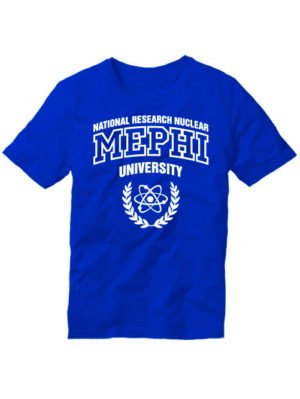Футболка MEPHI мужская синяя