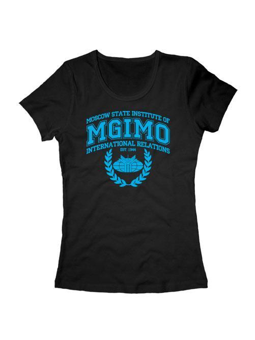 Футболка MGIMO Institute женская черная
