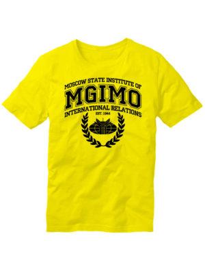 Футболка MGIMO Institute желтая