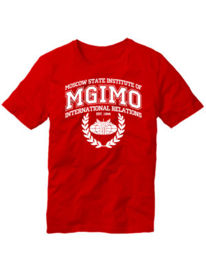 Футболка MGIMO Institute красная