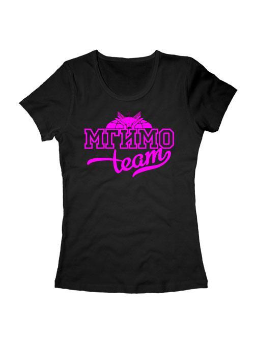 Футболка MGIMO Team женская черная