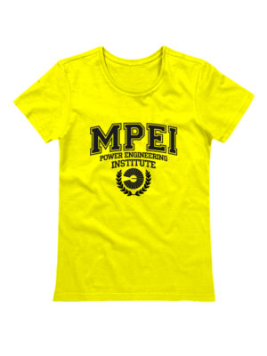 Футболка MPEI женская желтая