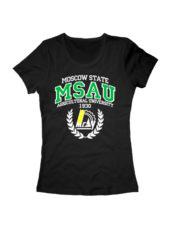 Футболка MSAU женская черная