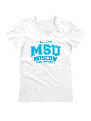Футболка MSU женская белая