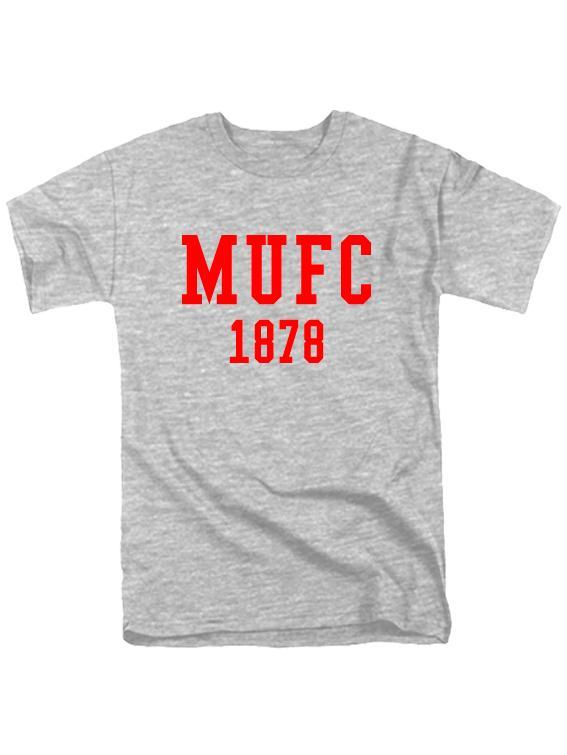Футболка MU FC 1878 серая