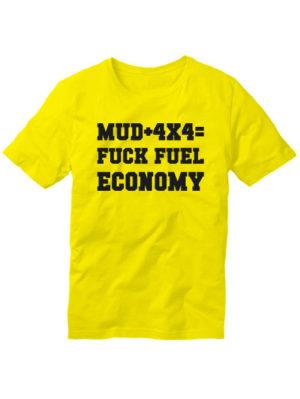Футболка MUD 4x4 желтая