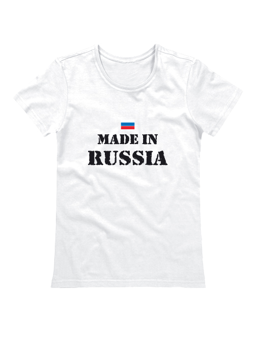 Футболка Mae in Russia женская белая