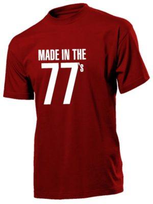 Футболка Made in the 77 бордовая
