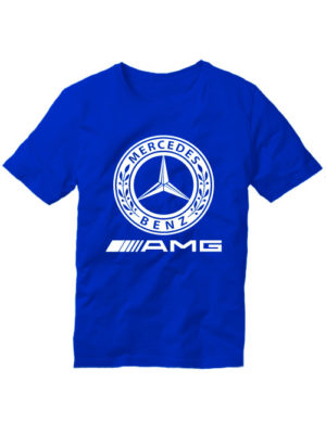 Футболка Mersedes Benz синяя