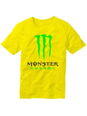 Футболка Monster energy желтая