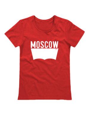 Футболка Moscow женская красная