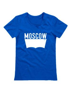 Футболка Moscow женская синяя