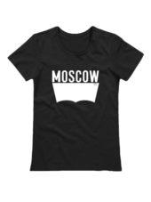 Футболка Moscow женская черная