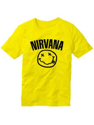 Футболка Nirvana желтая