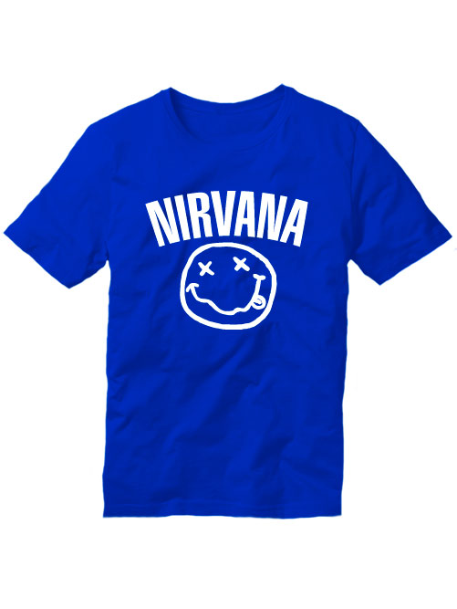 Футболка Nirvana синяя