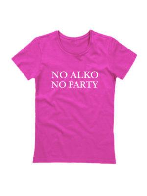 Футболка No alko no party розовая