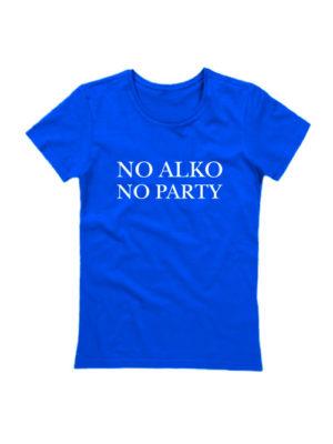 Футболка No alko no party синяя