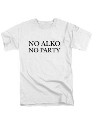 Футболка No alko no party мужская белая