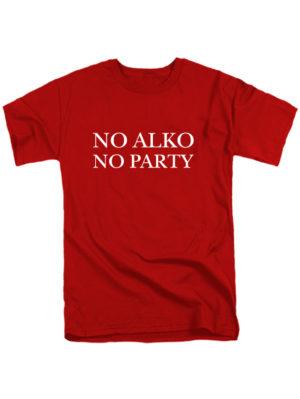 Футболка No alko no party мужская красная