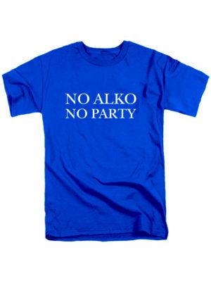 Футболка No alko no party мужская синяя