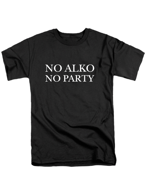 Футболка No alko no party мужская черная
