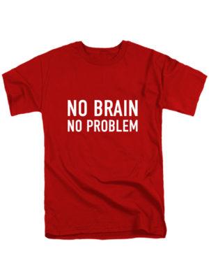 Футболка No brain красная