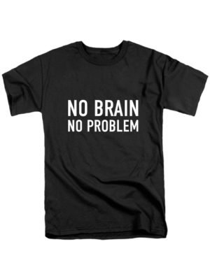 Футболка No brain черная