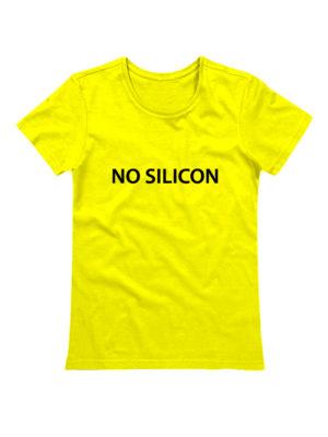 Футболка No silicon желтая