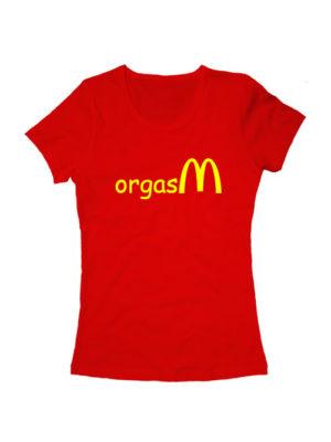 Футболка Orgasm женская красная