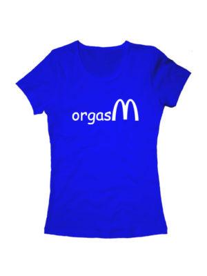 Футболка Orgasm женская синяя