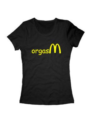 Футболка Orgasm женская черная