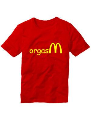 Футболка Orgasm красная