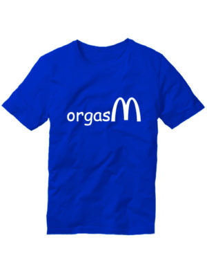 Футболка Orgasm синяя