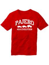 Футболка Pajero 4x4 evolution красная