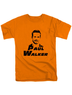Футболка Paul Walker оранжевая