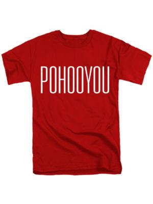 Футболка Pohooyou красная