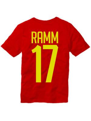 Футболка Ramm 17 красная