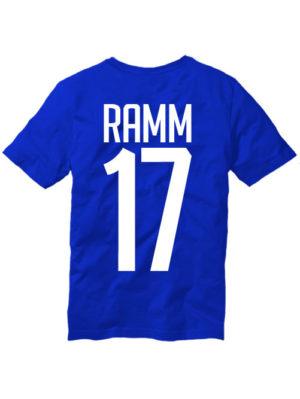 Футболка Ramm 17 синяя