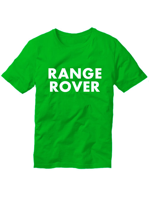 Футболка Range rover зеленая