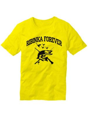 Футболка Ribinka forever желтая