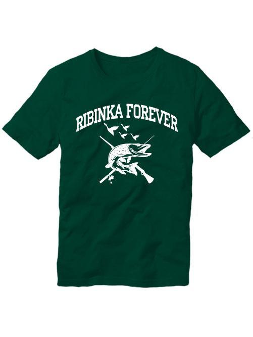 Футболка Ribinka forever темно зеленая