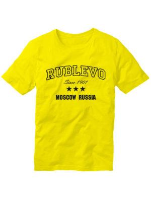 Футболка Rublevo желтая
