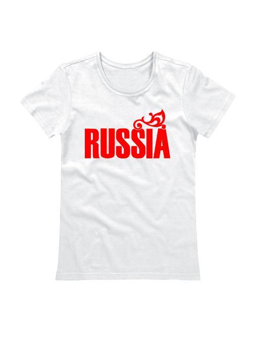Футболка Russia женская белая