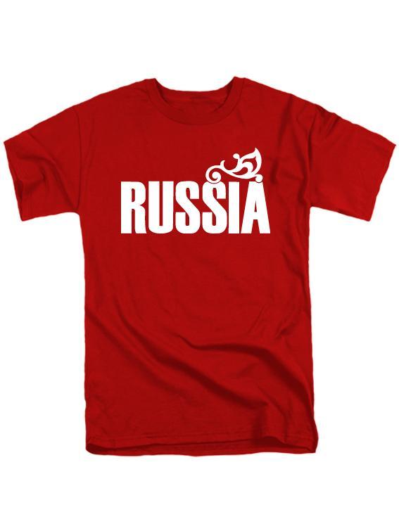 Футболка Russia мужская красная